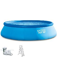 Intex 549×122 cm Easy Komplett-Set bestehend aus Swimming-Pool, Filter-pumpe und Pool-Leiter 289153